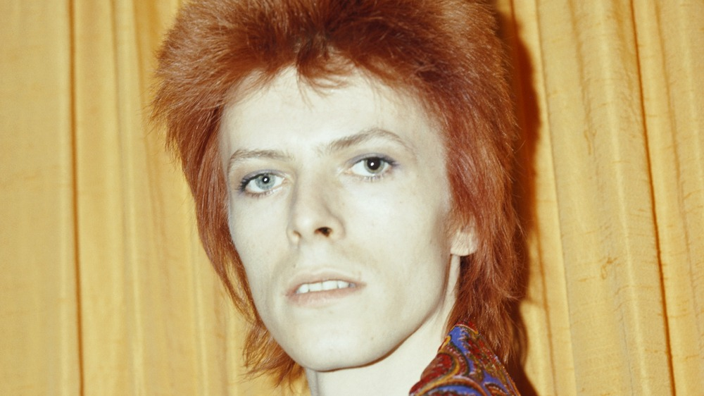 David Bowie in Ziggy Stardust outfit