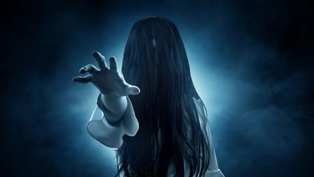 Picture of a ghost on dark background