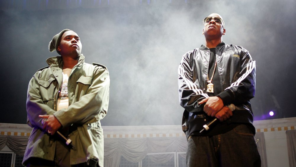 Jay-Z and Nas onstage