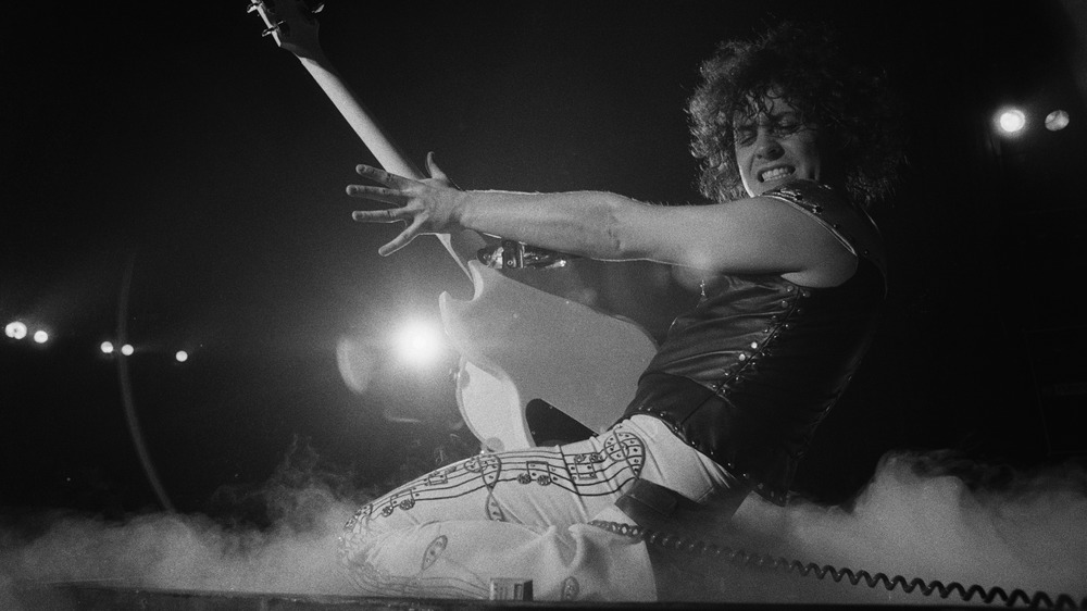 Marc Bolan of T-Rex performs in 1972