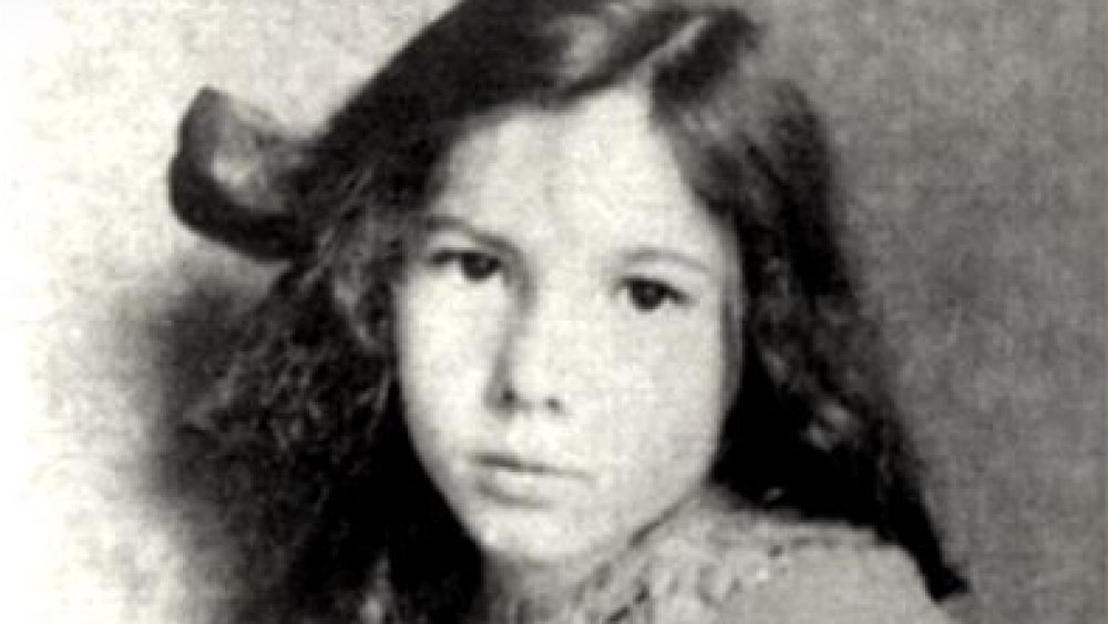Barbara Newhall Follett as a child poses for the camera